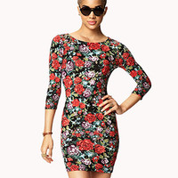Rose Bodycon Dress | FOREVER 21 - 2057039096