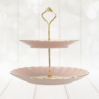 Bombay Duck Belle Two Tier Cake Stand - Blush Pink