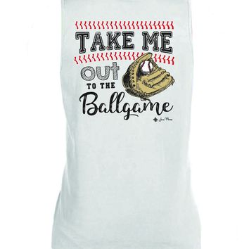 "Comfort Color""Take me out to the Ball Game"" Tank"