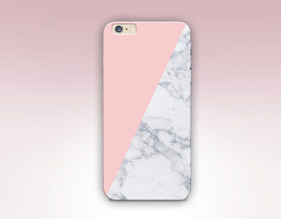Pink Marble Print Phone Case For - iPhone from CRCases on Etsy 087caeeff