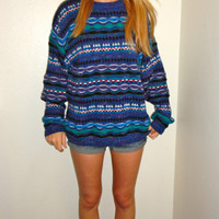 Multi Colored Patterened Sweater