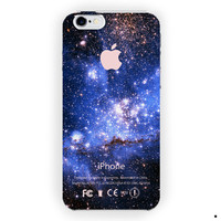 Blue Galaxy Nebula Apple Logo For iPhone 6 / 6 Plus Case