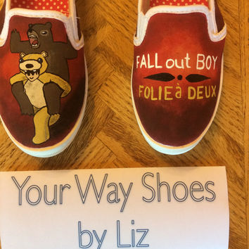 Fall Out Boy - Folie à Deux Made to Order Hand Painted Shoes