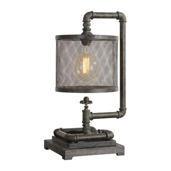 Bristow Rustic Industrial Pipe Accent Lamp by Uttermost
