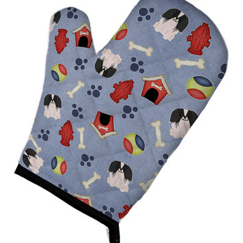Dog House Collection Pekingnese Black White Oven Mitt BB2718OVMT