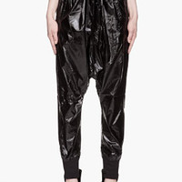 Ktz Black Nylon Harem Pants for women | SSENSE