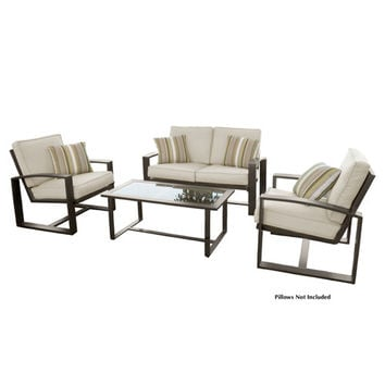 4 Piece Outdoor Set Love-Chairs-Table Qty of 1