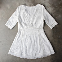 off duty plunging festival dress in white lace (women)