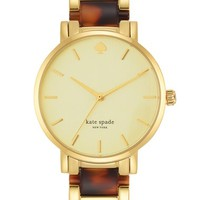 Women's kate spade new york 'gramercy' resin link bracelet watch, 34mm - Gold/ Tortoise