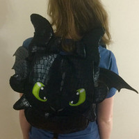 How to Train your Dragon Toothless backpack bag nap sack with adjustable shoulder straps