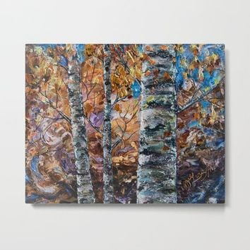Birch Trees (palette knife) by Lena Owens/OLenaArt