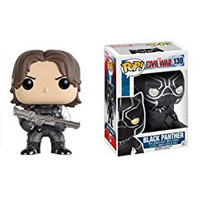 Funko POP Marvel Captain America Civil War: Winter Soldier and Black Panther Toy Action Figure - 2 Piece BUNDLE