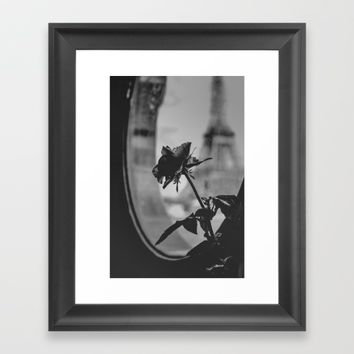 a rose with a view Framed Art Print by Liz Hand