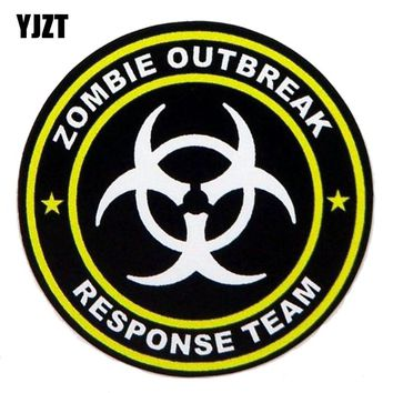 YJZT 10CM*10CM Car Sticker RESIDENT EVIL ZOMBIE Automobile Styling Reflective The Tail Of The Car Decals C1-7108