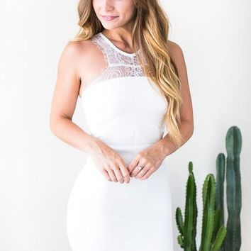 Ever After White Lace Bodycon