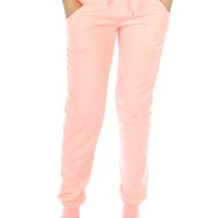 Cotton Quilted Jogger Pants w/ Pockets in S-XL in