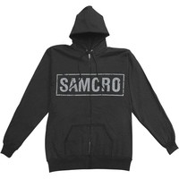 Sons Of Anarchy Men's  Samcro Boxed Reaper Hooded Sweatshirt Black