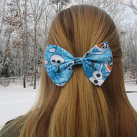 Frozen Olaf Winter Holiday Hair Bow