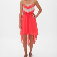 Ruby Rox Lace Applique Tube Top Dress