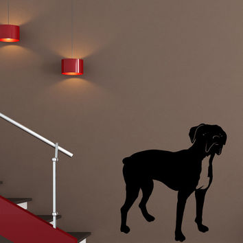 Vinyl Wall Decal Sticker Boxer Dog #OS_MB1004