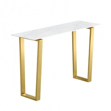 Cameron Gold Console Table Genuine Marble Top