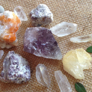 Large Crystal Collection Beginners Crystal Set Crystal Grid Kit Stone Collection Healing Crystals and Stones Bohemian Decor
