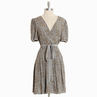 rosie wrap dress in dove gray by Darling UK - $107.99 : ShopRuche.com, Vintage Inspired Clothing, Affordable Clothes, Eco friendly Fashion