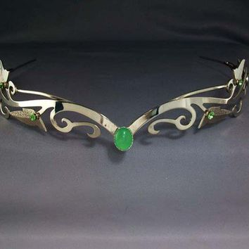 Elven Circlet, Celtic Headpiece, Bridal Circlet Tiara silver Crown Renaissance LOTR Fantasy Jewelry - Enchanted Ivy