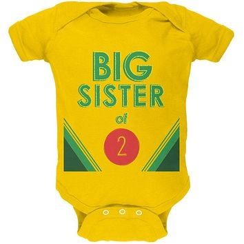 Crayon Big Sister of 2 Soft Baby One Piece