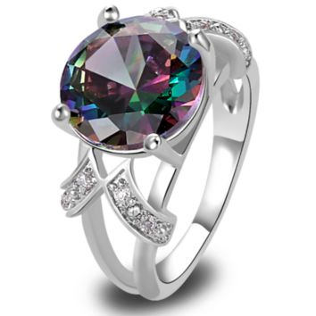 Topaz and White Sapphire Silver Ring (pre-order)