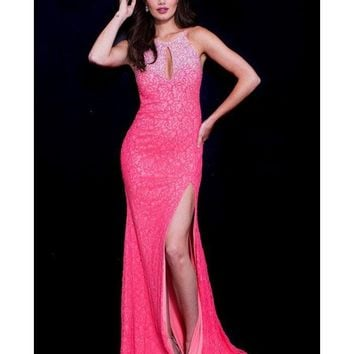 Jovani - 59638 Bead Embellished Fitted Evening Dress