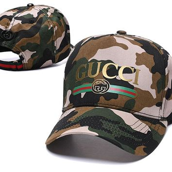 GUCCI CAMO Embroidered Baseball Golf Sports Cap Hat