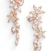 Nadri Flower Linear Drop Earrings | Nordstrom