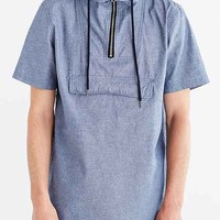 Charles & 1/2 Short-Sleeve Chambray Anorak Shirt