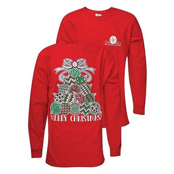 Southern Couture Preppy Christmas Classic Ornament Tree Long Sleeve T-Shirt