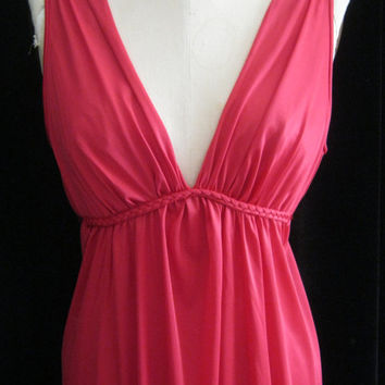 Vintage 70s 80s GRECIAN GODDESS  Sexy Draped NIGHTGOWN  Large