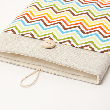 iPad sleeve. Cover for iPad mini with retina display. iPad AIR case with chevron pocket, case, bag, pouch. iPad 1 2 3 4 cover. Tablet case