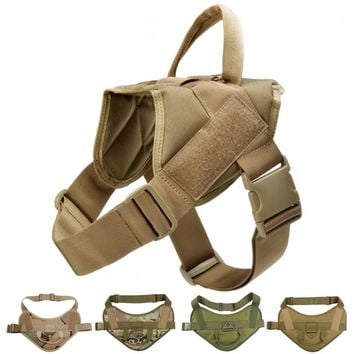Tactical Dog Vest Harness Military Camouflage Harness For Medium Large Dogs Patrol Training High Quality