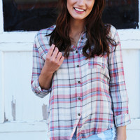 Pop Of Plaid Top