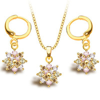 Multicolor Faux Crystal Necklace and Earrings