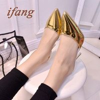 ifang Women High-heeled Shoes New Sexy Nightclub Fine With Fashion Parties Pointed Baotou And High 8cm Women Shoes