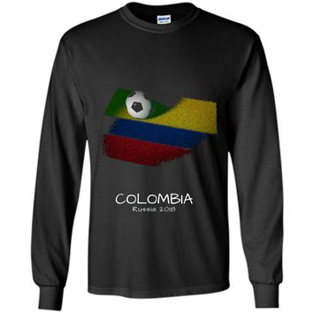 Colombia Soccer Ball 2018 T-shirt World Soccer Cup