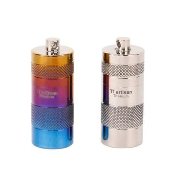Ti artisan Titanium Storage Case Portable Waterproof Mini Titanium Pill Case Pill Container Box 2 colour optional