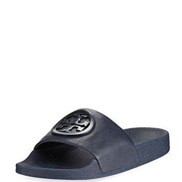 ONETOW Tory Burch Lina Navy Slides