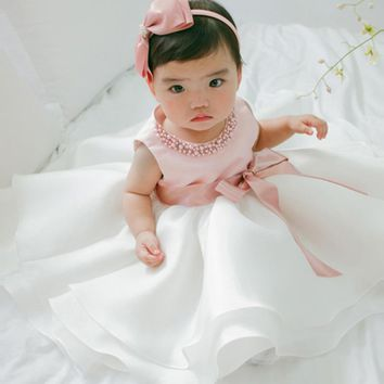 New Princess 0-2 Y Baby Wedding Dress Princess Baby Girl Summer Dress Infant Clothes Vestido Bebe Menina Robe Bebe Fille Mariage