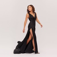 Black Escala Dress | Fame & Partners USA