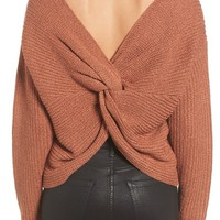 ASTR the Label Twist Back Sweater | Nordstrom