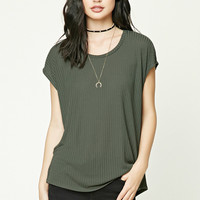 Boxy Ribbed Knit Top