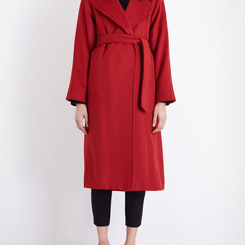 MAX MARA Manuela camel-hair wrap coat