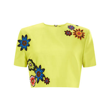 Embellished Cropped Top Yellow